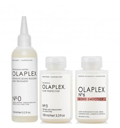 Olaplex Nº0, Nº3 and Nº6.